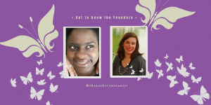 profile pictures of the founders of The Authors Encounter Bethany Averie and Nan Jenkins