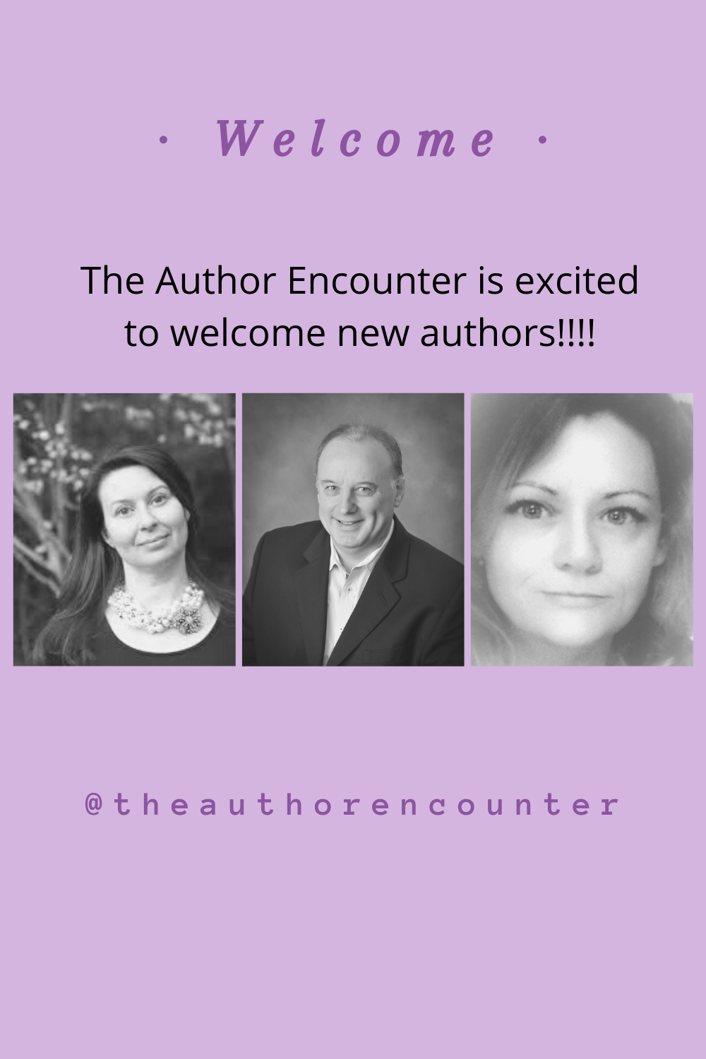 Pinterest image of new authors