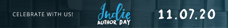 banner saying come celebrate with us Indie Author Day 11/7/20