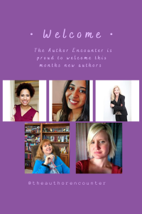 pinterest pin of new authors with the author encounter