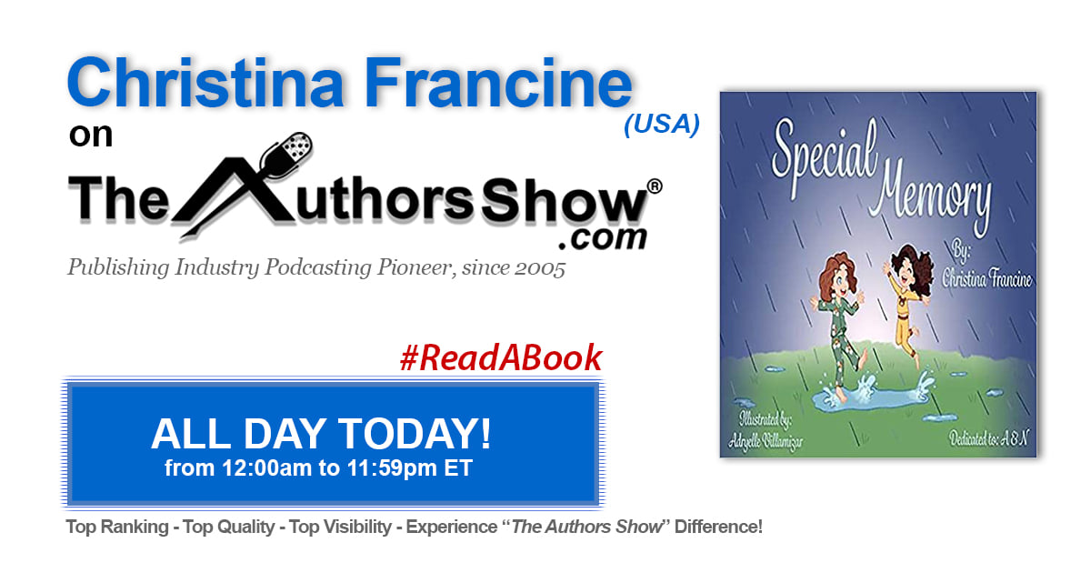 official graphic from The AuthorShow podcast featuring Christina Francine Kennison