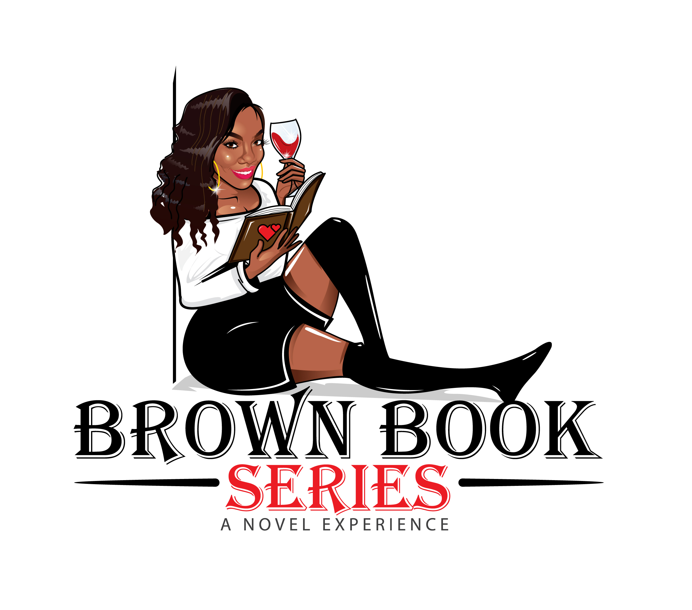 the logo for the brown book series hosted by Shay Baby