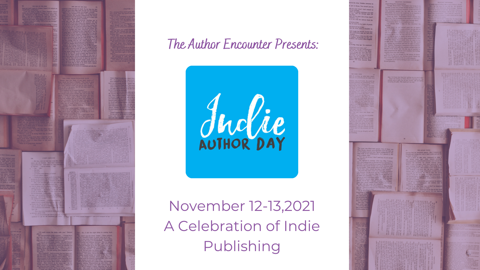 Indie Author Day banner with official logo