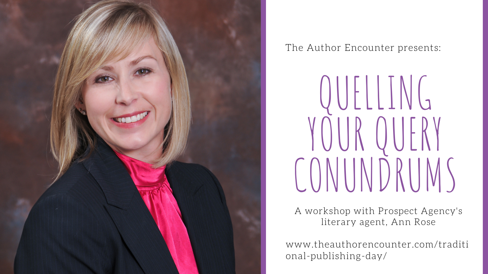 image for a query workshop with Ann Rose from the prospect agency