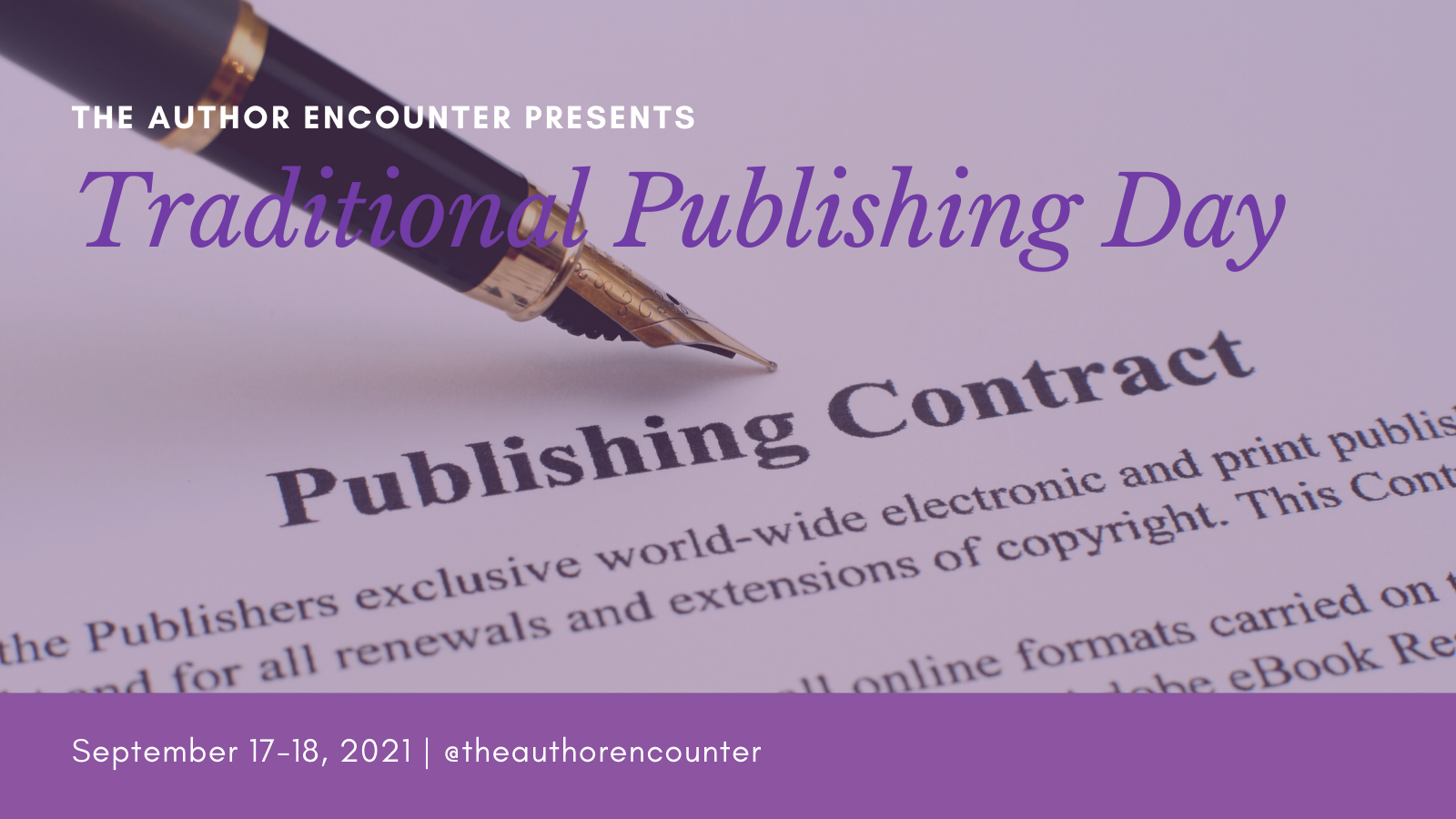 banner for the Traditional publishing day